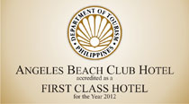 First Class Hotel as rated by the Department of Tourism